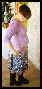jupe de grossesse plissée