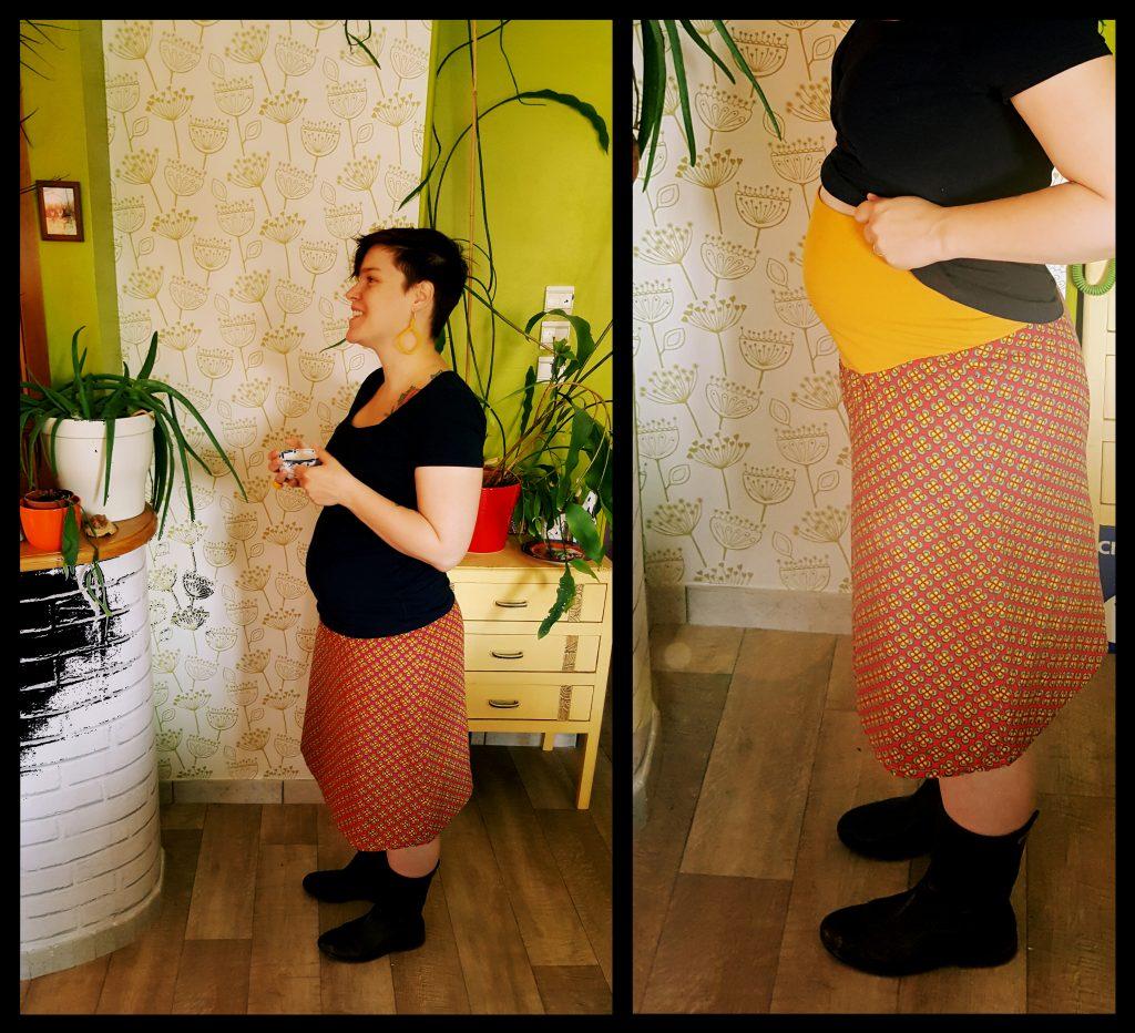 couture jupe de grossesse intemporelle